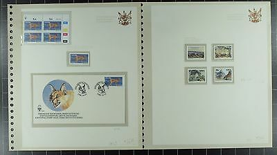 Weeda South West Africa 556//597 MNH collection in custom album CV $173.40