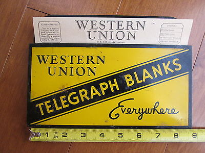WESTERN UNION TELEGRAPH BLANKS EVERYWHERE  Metal Display Box