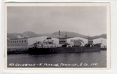 M/S HELMWOOD ON THE ST LAWRENCE?: Shipping postcard (C29037)