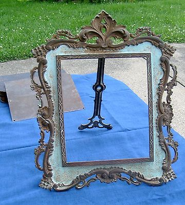 Antique National Brass & Iron Works Victorian Easel/Wall Mount Frame