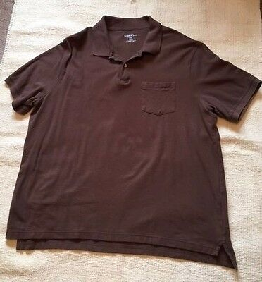 Mens 3xl cotton traders polo shirts picclick uk for Mens chocolate brown shirt