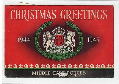 Christmas Cards from Middle East Forces 1944-45 (C29178)