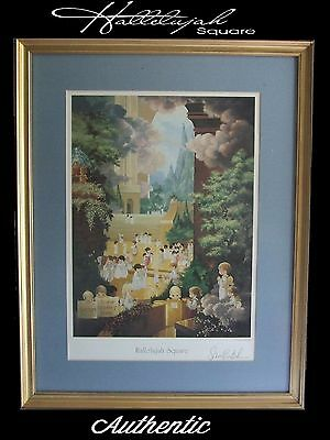HALLELUJAH SQUARE Signed Lithograph by SAMUEL BUTCHER Professionally Framed Art