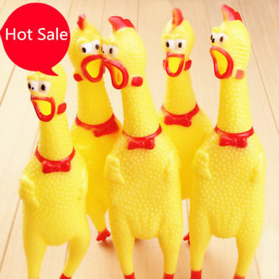 New Squeeze Shrilling Screaming Chicken Funny Chicken Pet Dog Chew Toy