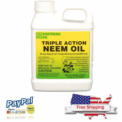 Southern Ag 16 Oz Triple-Action Neem Oil Natural Fungicide Insecticide Miticide
