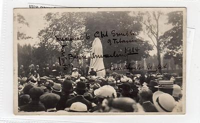 Two picture postcards of unveiling of memorial to Capt Smith of Titanic (C29332)