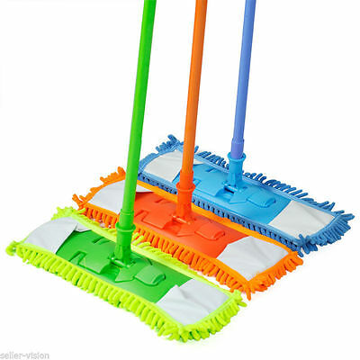 2 x Extendable Microfibre Floor Mop Cleaner Sweeper Wooden Laminate Tile Wet Dry