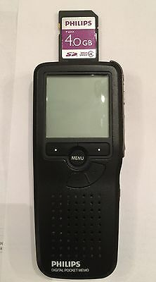 Philips LFH9375 Pocket Memo Digital Voice Recorder w/ Memory Card