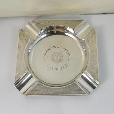 BOODLE & DUNTHORNE Sterling Silver Formby Golf Club Ash Tray