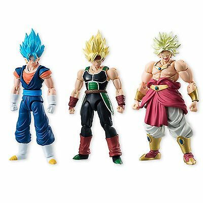 Bandai Dragon Ball Z Shodo 5 Action Figure Set NEW Bardock Vegetto Broly Toys