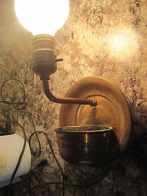 Vintage Copper  Wall Sconce with GREAT Patina!