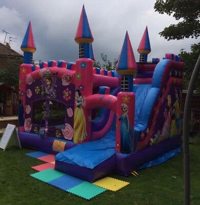 Hire Only Disney Princess Bouncy Castle With Slide Middlesex Kids Girls Party