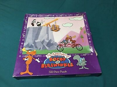 The Adventures Of Bullwinkle & Rocky 550 Piece Puzzle Sealed