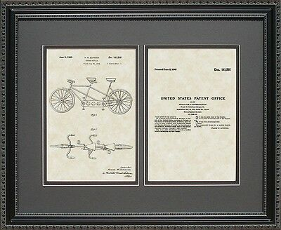 Patent Art - Tandem Bicycle - Cyclist Bicyclist Biker Bike Rider Wall Gift S1505