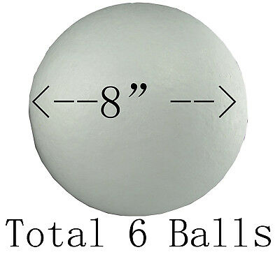 "8"" (6 Balls) Smooth Polystyrene Foam Balls for Crafts and School Project Wedding"