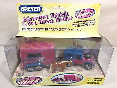 Breyer Mini Whinnies Adventure Vehicle & Two Horse Trailer, Jeep Girls Toy - New