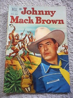 JOHNNY MACK BROWN (1951 Series) #4 in EXCELLENT condition Dell Comics Book