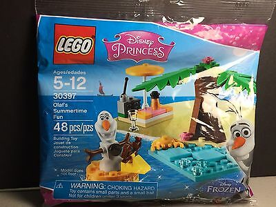 New LEGO Olaf's Summertime Fun 30397 Polybag 48pcs Disney Princess Frozen