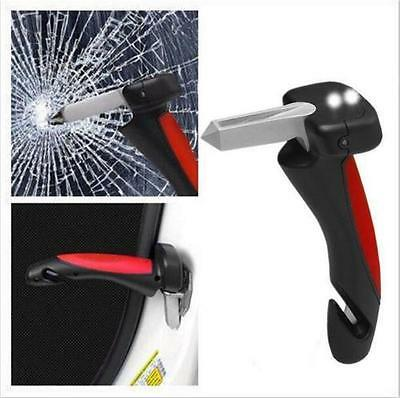 Auto Car Handle Door Emergency Hammer Flashlight Glass Breaker Seatbelt Cutter