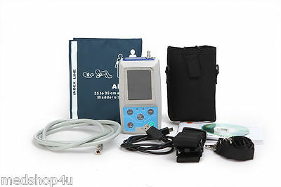 FDA Ambulatory Blood Pressure Patient Monitor 24h NIBP Holter ABPM50, CONTEC USA