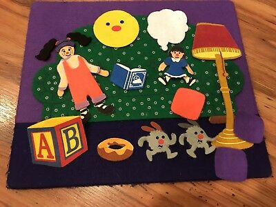 RARE BIG COMFY COUCH Felt Board PLAYSET Set 1997 Learning Curve Molly Loonette