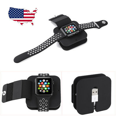 2 in 1 Charging Dock Holder Station Wallet Case for Apple Watch iWatch Series1 2