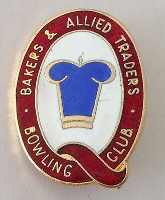 Bakers & Allied Traders Letter Q QLD Bowling Club Badge Pin Vintage Rare (L37)