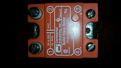 Solid State Relay 40-Amp 24-330 VAC Continental S505-0SJ640-000 made in USA