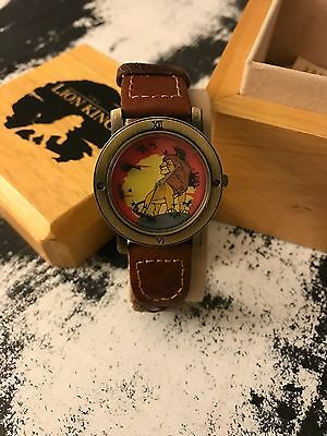 """Rare Disney / Pedre """"lion King"""" Numbered Ltd Edt Watch - New In Box With Coa"""