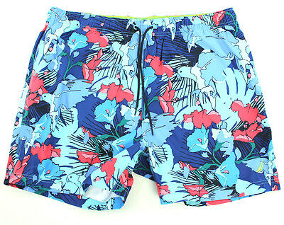 NEW Mens Nautica Quick Dry Cabana Blue Beach Sail Surf Swim Board Shorts Sz XXL