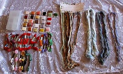 Assortment Of Embroidery Cottons - New And Used Mixed Lot Various Colours