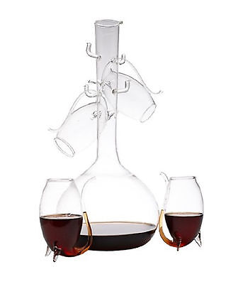 Elegant set of 4 Port Sippers with Decanter wine aerator