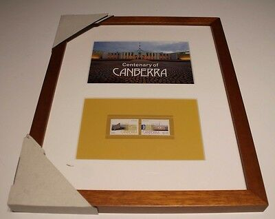 New Centenary Of Canberra Framed Print + Mint Stamp Set + Pictured Print