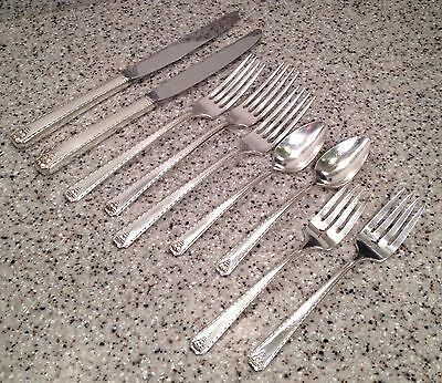 Oneida Prestige Plate BORDEAUX Silverplate Flatware MIXED LOT 9 Pieces