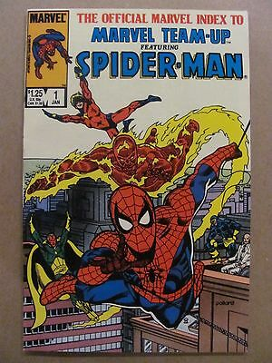 Official Marvel Index to Marvel Team-up #1 2 3 4 Spider-Man 1986 Series 9.2 NM-