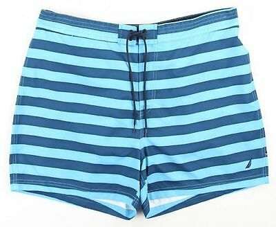 NEW Mens Nautica Quick Dry Waterfall Turquoi Beach Surf Swim Board Shorts Sz XL