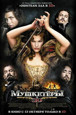 """004 The Musketeers - Season1 2 3 4 Fight Hot TV Shows 14""""x21"""" Poster"""