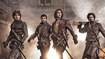 """010 The Musketeers - Season1 2 3 4 Fight Hot TV Shows 24""""x14"""" Poster"""