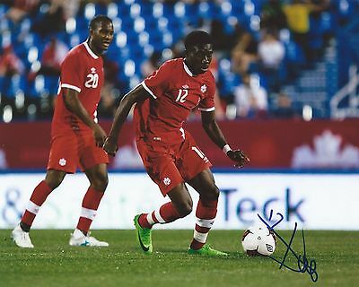 Alphonso Davies Signed 8x10 Photo Team Canada Gold Cup Soccer Autographed COA