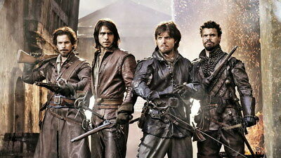 """011 The Musketeers - Season1 2 3 4 Fight Hot TV Shows 42""""x24"""" Poster"""