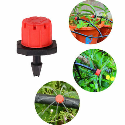 100Pcs Adjustable Garden Irrigation Mist Micro Flow Dripper Water Drip Head Hose