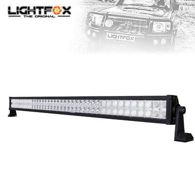 LIGHTFOX 42inch LED Light Bar CREE Spot Flood Combo Offroad Driving 4x4 42""