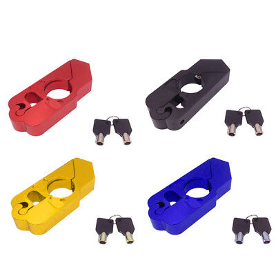 Motorcycle Scooter Handlebar Grip Brake Lever Lock Anit Theft Security Caps-Lock