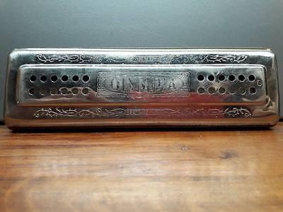 HARMONICA OLYMPIA VINTAGE - MADE IN GERMANY - DOUBLE FACE 96 TROUS + 4 x 12TROUS