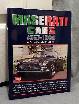 Maserati Cars 1957-1998 Limited Edition of 500 Brooklands BOOK Bora Indy Spyder