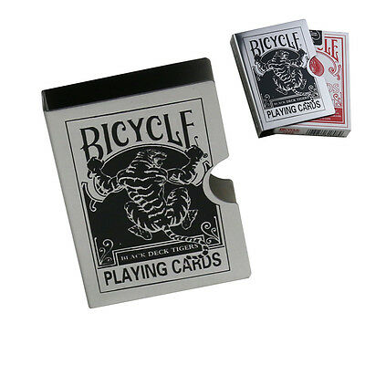 Bicycle Playing Card Metal Clip Deck Protector Case Trick Magic Predict - Tiger