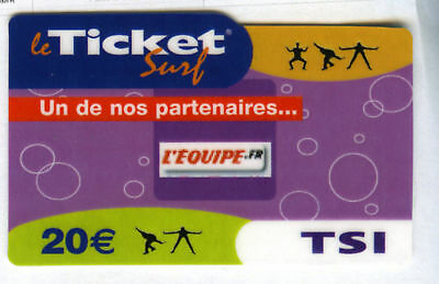 Ticket Surf L'team Sport Nicht Telefonkarte Leer 30/09/06