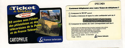 Ticket Telefon Cartophilie Karte Code Probe