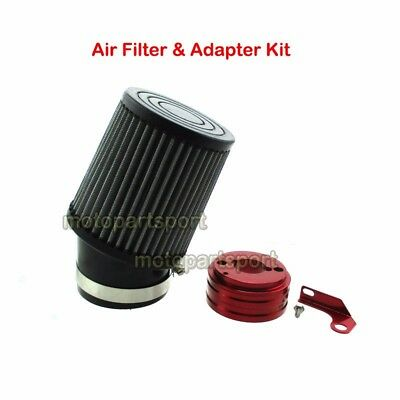 Air Filter Adapter Kit For 6.5HP Honda Clone GX160 GX200 Predator 212cc Go Kart