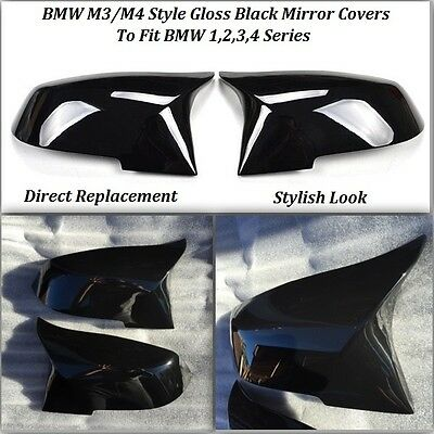 BMW M3/M4 Style Gloss Black Replacement Mirror Covers F20 F21 F30 F31 F32 F33
